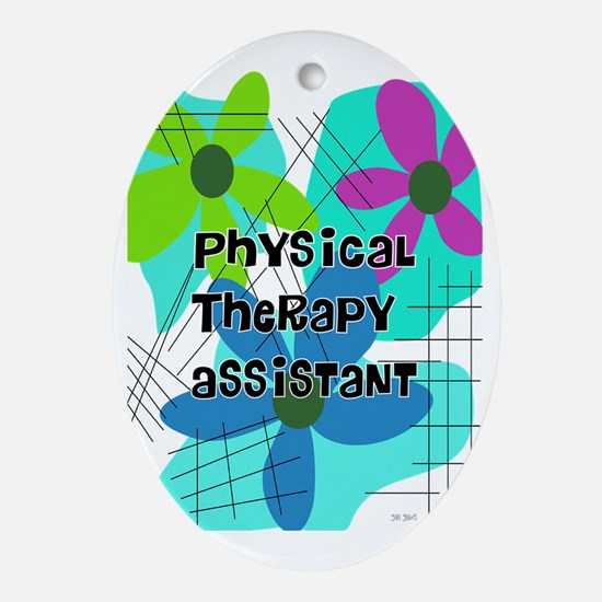 physical therapist asst 1 Oval Ornament