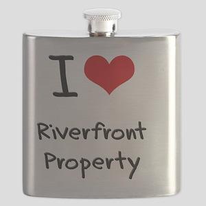 I Love Riverfront Property Flask