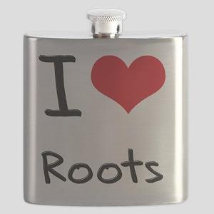 I Love Roots Flask