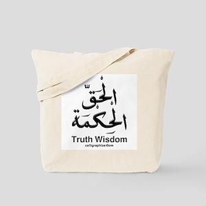 Truth Wisdom Arabic Tote Bag