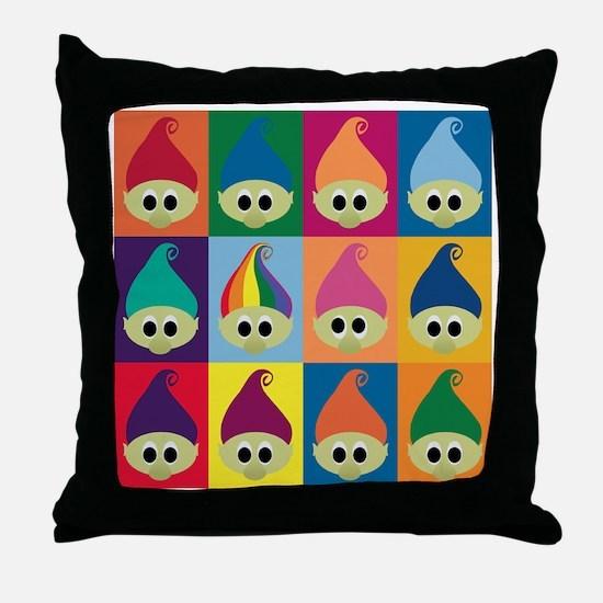 troll army rainbow leader Throw Pillow