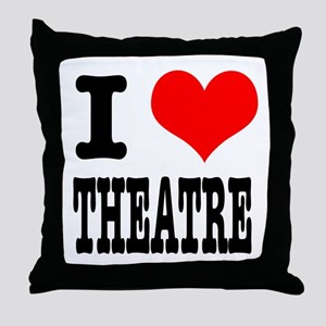 I Heart (Love) Theatre Throw Pillow
