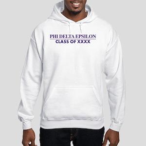 Phi Delta Epsilon Class of XXXX Hooded Sweatshirt
