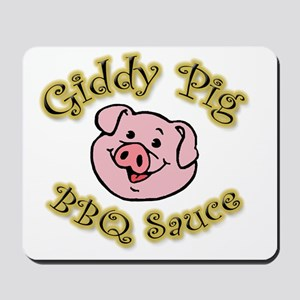 Giddy Pig no flames Mousepad