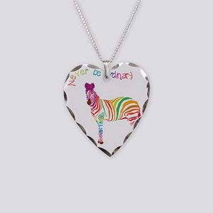 Never Be Ordinary Necklace Heart Charm