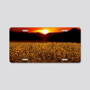 Sunflowersunset Aluminum License Plate