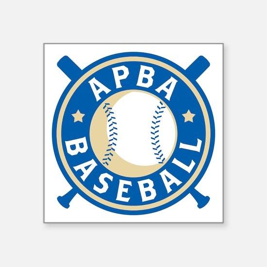 "New APBA Baseball Logo Square Sticker 3"" x 3"""