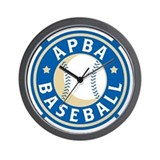 Apba baseball Wall Clocks
