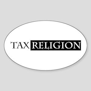 tax religion Oval Sticker