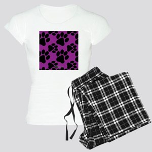 Dog Paws Purple Women's Light Pajamas