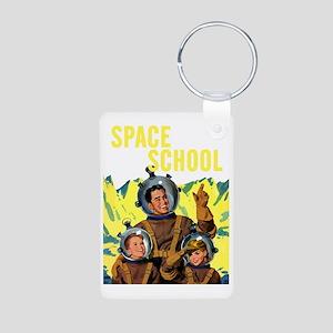 Space School Aluminum Photo Keychain