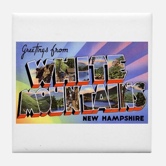 White Mountains New Hampshire Tile Coaster