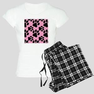 Dog Paws Pink Women's Light Pajamas