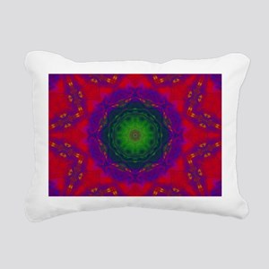3D Kaliedescope Rectangular Canvas Pillow