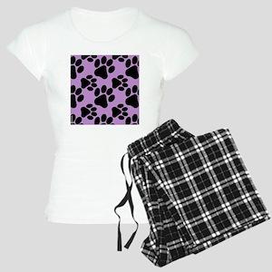 Dog Paws Light Purple Women's Light Pajamas