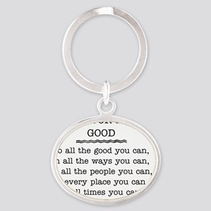 PA NEW Rules doing good Oval Keychain