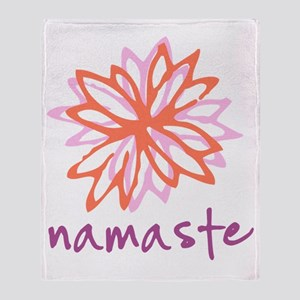 Namaste Flower Throw Blanket