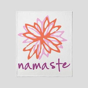 Namaste Flower Throw Blanket