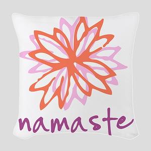 Namaste Flower Woven Throw Pillow