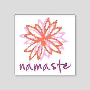 "Namaste Flower Square Sticker 3"" x 3"""