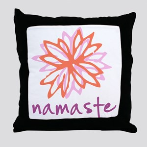 Namaste Flower Throw Pillow