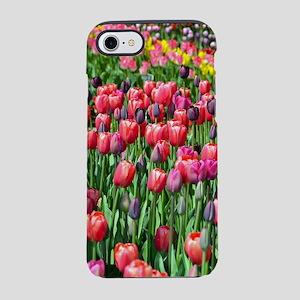 Colorful spring tulip garden iPhone 7 Tough Case