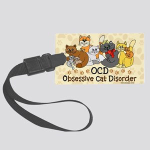 OCD Obsessive Cat Disorder Large Luggage Tag