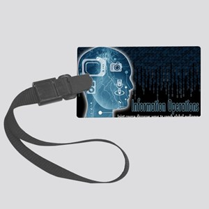 Information operations Large Luggage Tag