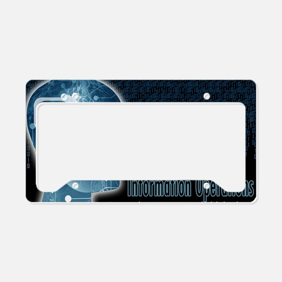 Information operations License Plate Holder