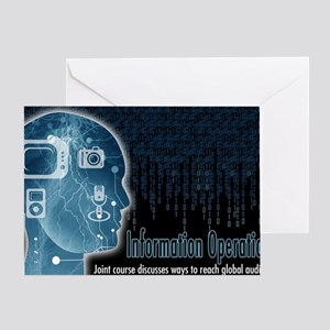 Information operations Greeting Card