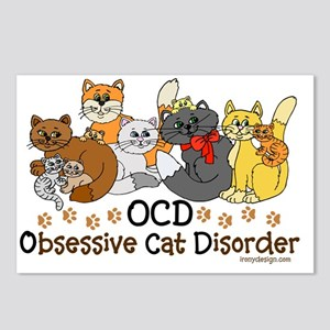 OCD Obsessive Cat Disorde Postcards (Package of 8)