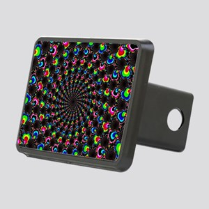 Psychedelic Wormhole Rectangular Hitch Cover