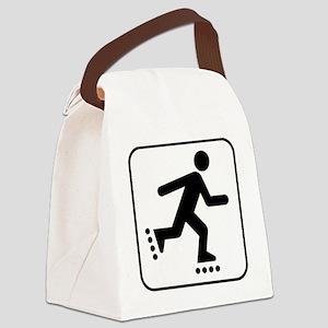 Rollerblader Canvas Lunch Bag