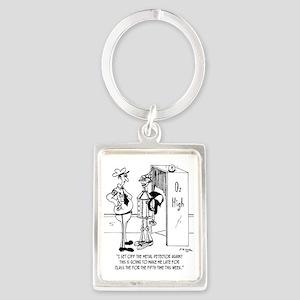 The Tin Man at Oz High Portrait Keychain