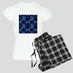 Dog Paws Royal Blue Women's Light Pajamas
