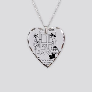 Call Locksmith, Dont Use a Bl Necklace Heart Charm