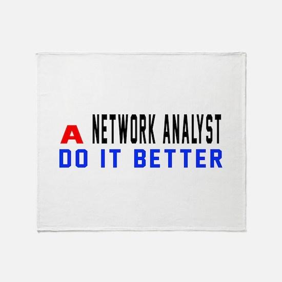 Network Analyst Do It Better Throw Blanket