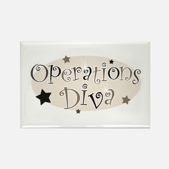 """""""Operations Diva"""" [brown] Rectangle Magnet"""