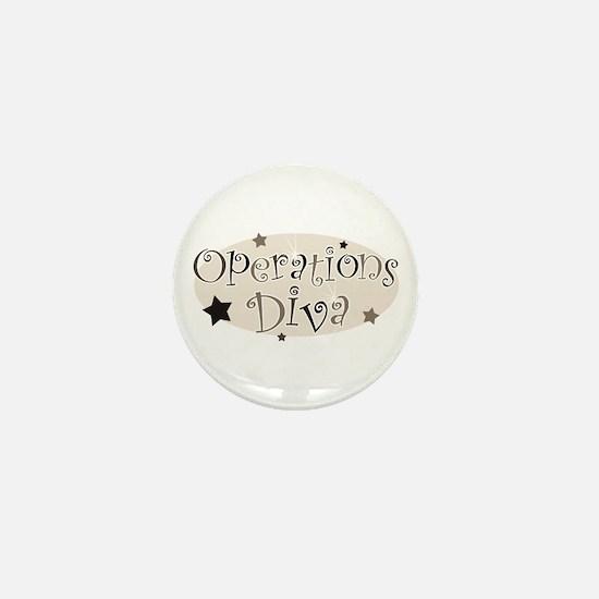 """""""Operations Diva"""" [brown] Mini Button"""