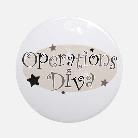 """Operations Diva"" [brown] Ornament (Round)"