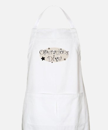"""Operations Diva"" [brown] BBQ Apron"