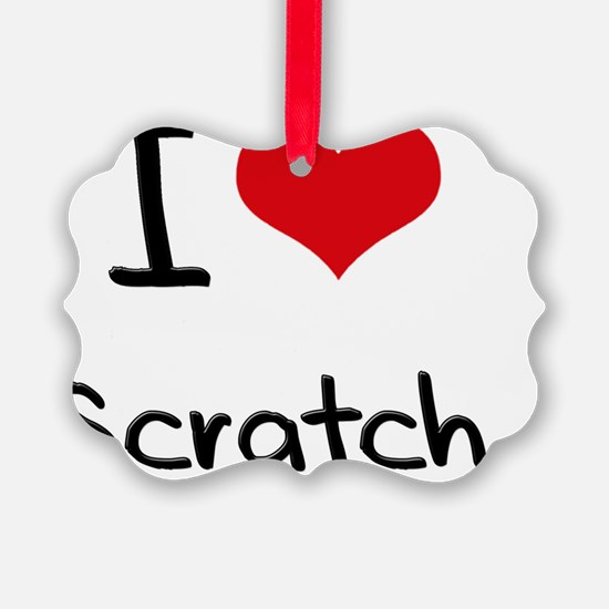 I Love Scratch Ornament