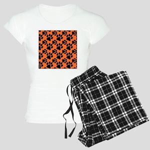 Dog Paws Clemson Orange Pup Women's Light Pajamas