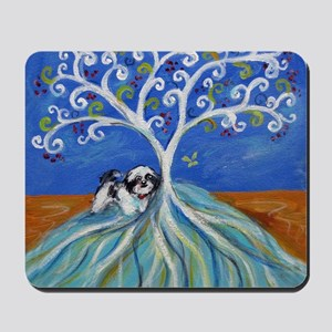Shih Tzu spiritual love tree Mousepad