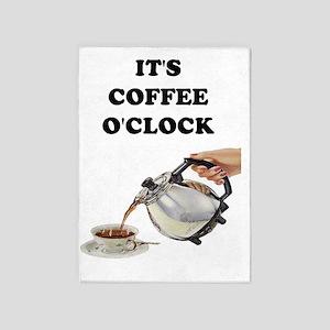 ITS COFFEE OCLOCK 5'x7'Area Rug