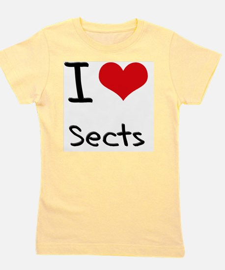 I Love Sects Girl's Tee