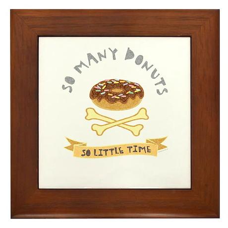 Donut Chocolate Framed Tile