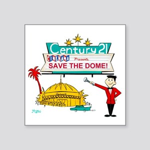 "savethedome Square Sticker 3"" x 3"""