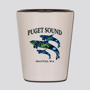 Puget Sound Orcas Shot Glass