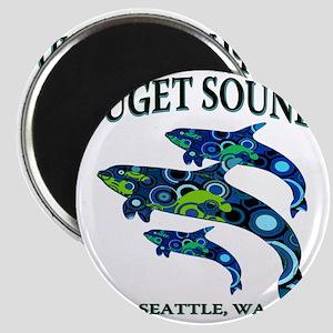 Puget Sound Orcas Magnet